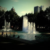 Photo taken at Freimann Square by Tyler K. on 6/21/2012