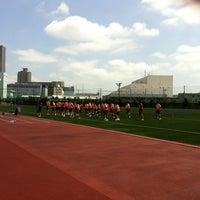 Photo taken at かえつ有明中学・高等学校 by Aquira S. on 4/28/2012