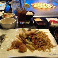 Photo taken at Wasabi Japanese Steakhouse by Christine D. on 6/18/2012