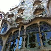 Photo taken at Passeig de Gràcia by Artem on 7/17/2012
