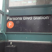 Photo taken at MTA Subway - Parsons Blvd (F) by I'isha M. on 3/15/2012