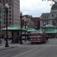 Photo taken at Kennedy Plaza Bus Terminal by 🍀Sean . on 3/24/2012