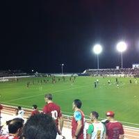 Photo taken at Estádio Municipal José Nazareno do Nascimento (Nazarenão) by Manoel M. on 11/9/2011