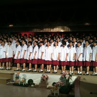 Photo taken at Wattana Wittaya Academy by Piraya C. on 1/29/2012