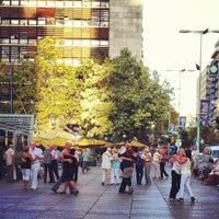 Photo taken at Plaza Fabini by Deborah R. on 2/12/2012