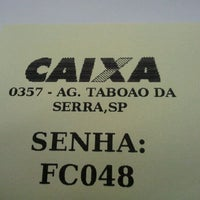 Photo taken at Caixa Econômica Federal by Marcelo M. on 2/14/2012