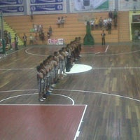 Photo taken at Hall Basket Perbasi Pontianak by denyssa e. on 11/26/2011