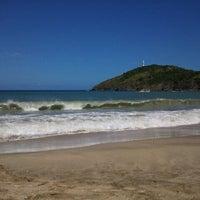 Photo taken at Playa Zaragoza by Eugenia A. on 1/26/2012