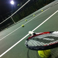 Photo taken at Tennis Court@Waterfront Wave by Hoe K. on 6/14/2012