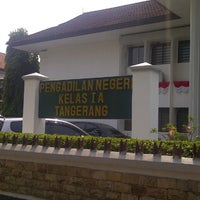 Photo taken at Pengadilan Negeri Tangerang by Natasya N. on 8/30/2012