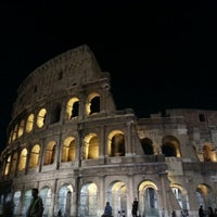 Photo taken at Piazza del Colosseo by Neehar V. on 8/4/2012