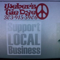 Photo taken at Weber's Tie dye by Eldon W. on 1/25/2012