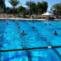 Photo taken at Palm Desert Aquatic Center by Josh R. on 10/30/2011