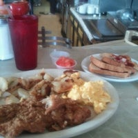 Photo taken at Connie & Barbara's Soul Food by Kitty Luvinme F. on 11/8/2011