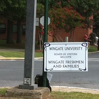 Photo taken at Wingate University by Kristy T. on 8/20/2011