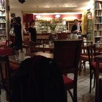 Photo taken at Goldmund Literaturcafe by Harry M. on 3/7/2012