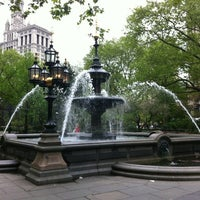 Photo taken at City Hall Park by Amy M. on 4/23/2012