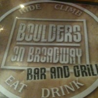 Photo taken at Boulders On Broadway by Ellen S. on 3/1/2012
