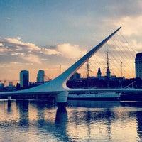 Photo taken at Puente de la Mujer by Deborah R. on 2/16/2012