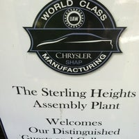 Photo taken at Chrysler Sterling Heights Assembly Plant by Steve V. on 7/25/2012