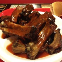 Photo taken at Honey Bear's BBQ by Jessie on 3/24/2012
