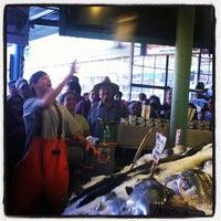 Photo taken at Pike Place Fish Market by Kari P. on 8/12/2012