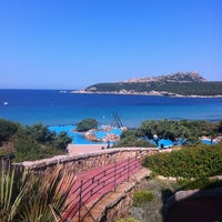 Photo taken at Colonna Hotel Capo Testa by Alisa on 7/5/2012