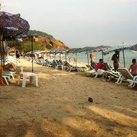 Photo taken at Nual Beach by Dekudon จ. on 1/28/2012