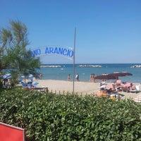 Photo taken at Villa Rosa - Bar Beach & Restaurant by Matteo G. on 7/7/2012