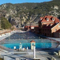 Photo taken at Glenwood Hot Springs by Christopher G. on 12/26/2011