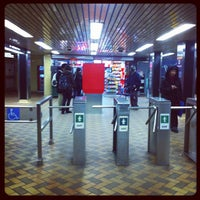 Photo taken at Dundas Subway Station by Rannie T. on 2/16/2012
