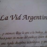 Photo taken at La Vid Argentina by Alejandra G. on 8/2/2012
