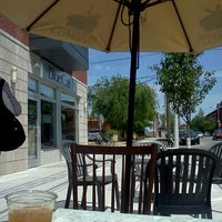 Photo taken at Mugshots Coffeehouse by Bookspace on 5/13/2012