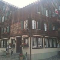 Photo taken at Restaurant Hotel Rössli by Marjolein V. on 6/28/2012
