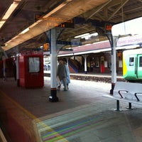 Photo taken at Fratton Railway Station (FTN) by Ethan W. on 3/28/2011