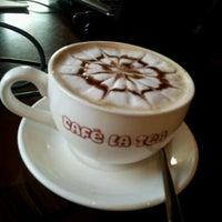 Photo taken at Cafe La Tea by Maithy Julie H. on 5/25/2012