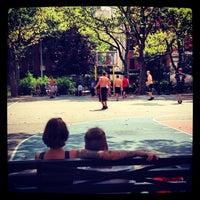 Photo taken at Sara Delano Roosevelt Park Playground by Dom G. on 8/11/2012