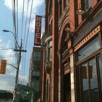Photo taken at Gladstone Hotel by Tara H. on 2/23/2012
