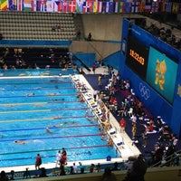 Photo taken at London 2012 Aquatics Centre by minhee k. on 7/28/2012