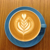 Photo taken at Prufrock Coffee by Matt on 3/13/2012