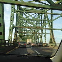 Photo taken at Maurice J. Tobin Memorial Bridge by Jackie H. on 3/8/2012