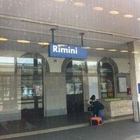 Photo taken at Stazione Rimini by Alessandro B. on 5/22/2012