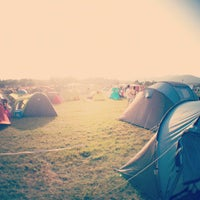Photo taken at Camping des Eurockéennes by Ilya F. on 6/28/2012