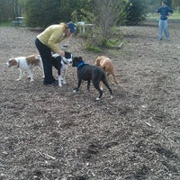 Photo taken at Alston Dog Park by Mecaela M. on 11/27/2011