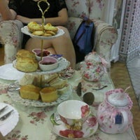 Photo taken at Victoria Rossa English Tea Room by Janice C. on 4/23/2012