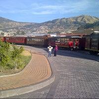 Photo taken at Estación de Tren Chimbacalle by Byron R. on 8/25/2012