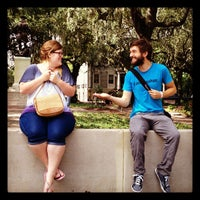 Photo taken at Forrest Gump's Bench (former location) by Andrew S. on 8/21/2012