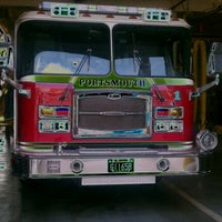 Photo taken at Portsmouth Fire Station 1 by Stephen G. on 11/1/2011
