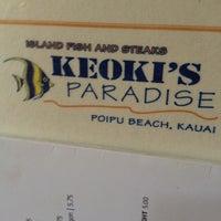 Photo taken at Keoki's Paradise by dustin r. on 4/12/2012