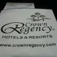 Photo taken at Crown Regency Hotel by Ross C. on 9/8/2011